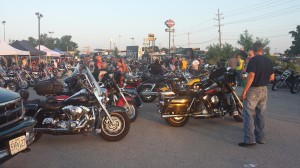 View of Cruiser Bikes and Crowd