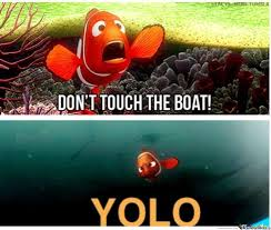 Nemo touching the boat.