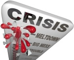 Crisis Thermometer Meltdown Mess Trouble Emergency Words